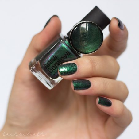 dance-legend-wood-goblin-Леший-matt-green-polish-lilac-shimmer-swatch-3