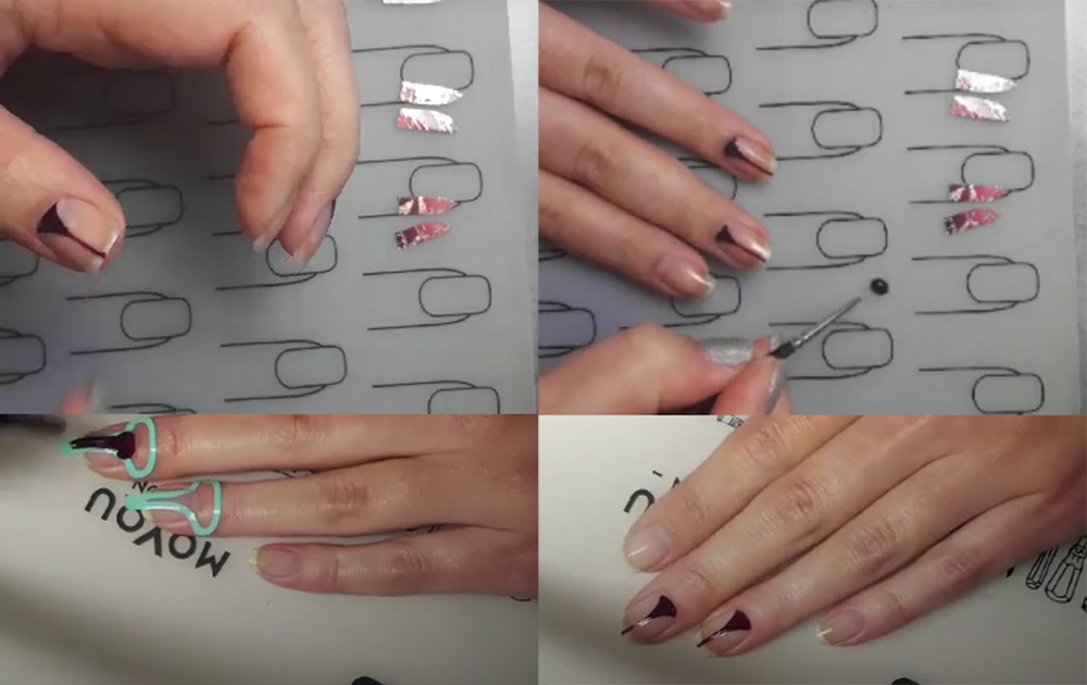 Nailart-Sticker-Vinyls-Stiletto-Rosinagold-Stickergigant-absolute-aubergine-edding-laque-ANLEITUNG-2