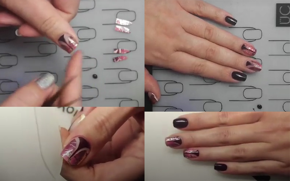 Nailart-Sticker-Vinyls-Stiletto-Rosinagold-Stickergigant-absolute-aubergine-edding-laque-ANLEITUNG-4