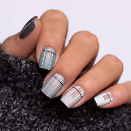 Frischlackiert-challenge-ombre-nailart-grau-grey-stamping-cutout-minimal-geometric-1