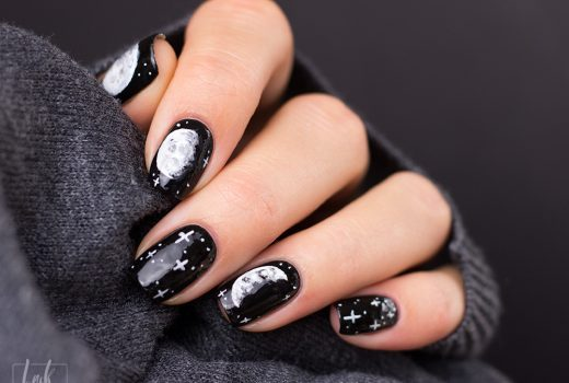 Copycat-Moon-Mond-Nailart-Freehand-Black-and-White-2
