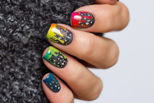frischlackiert-challenge-Galaxy-Galaxie-Nails-rainbow-Gradient-Drip-Nailart-1