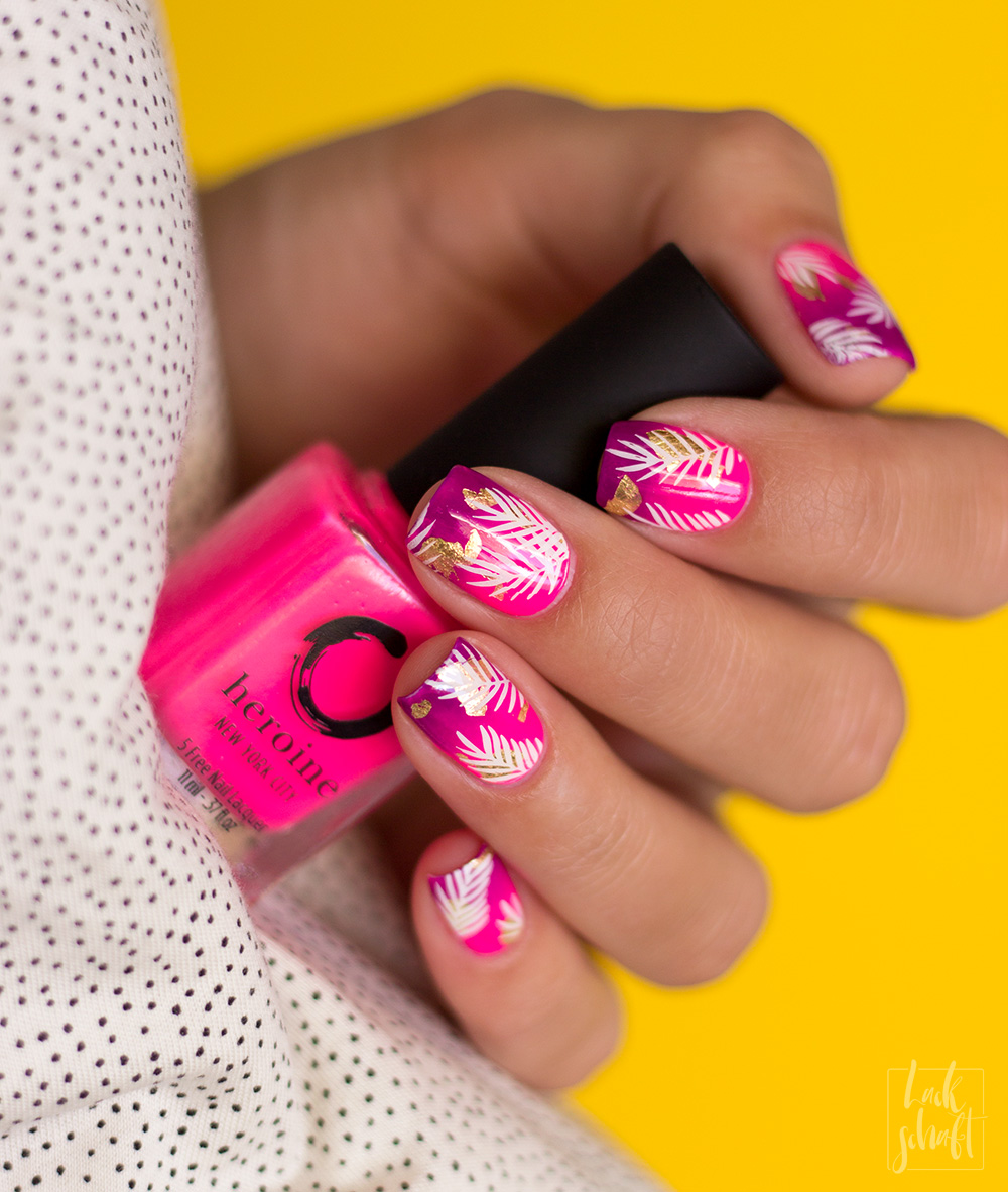 Frischlackiert-Challenge-Gradient-Nailart-Heroine-NYC-Moyou-Stamping-tropical-2