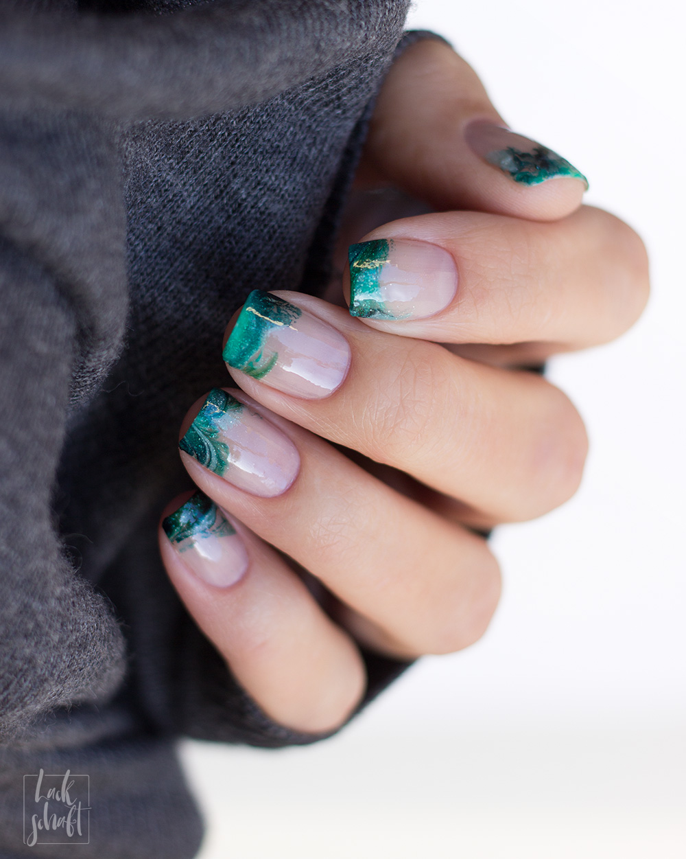 Picture-Polish-Sage-Enchanting-Kryptonite-Escapades-French-Nails-1