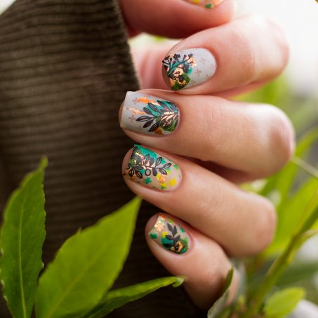 Frischlackiert-challenge-Green-Moyou-London-Holy-Shapes-Fall-in-Love-Nailart-5