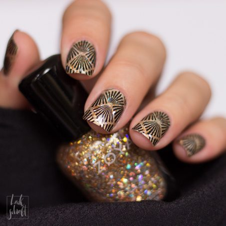 Frischlackiert-Challenge-Nailart-Black-and-Gold-Schwarz-Stamping-Moyou-20s-Gatsby-1