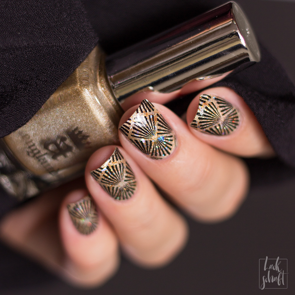 Frischlackiert-Challenge-Nailart-Black-and-Gold-Schwarz-Stamping-Moyou-20s-Gatsby-2