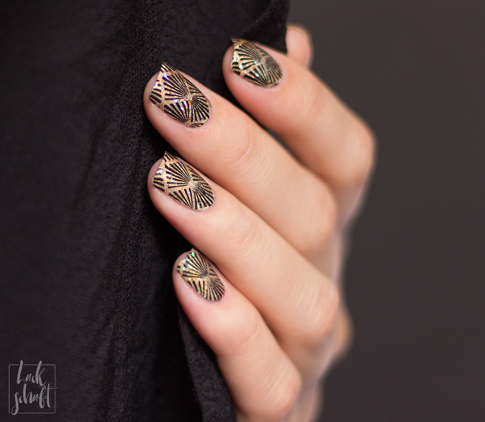 Frischlackiert-Challenge-Nailart-Black-and-Gold-Schwarz-Stamping-Moyou-20s-Gatsby-4