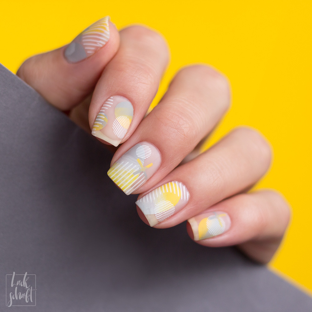 Nailart-Moyou-London-Stamping-Coclor-Of-the-Year-2021-Pantone-Gelb-Grau--Frenchy-holy-shapes-minimal-2