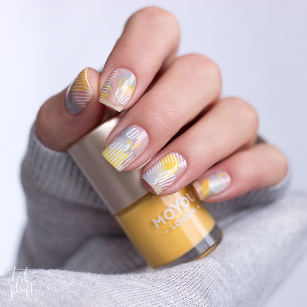 Nailart-Moyou-London-Stamping-Coclor-Of-the-Year-2021-Pantone-Gelb-Grau--Frenchy-holy-shapes-minimal-4