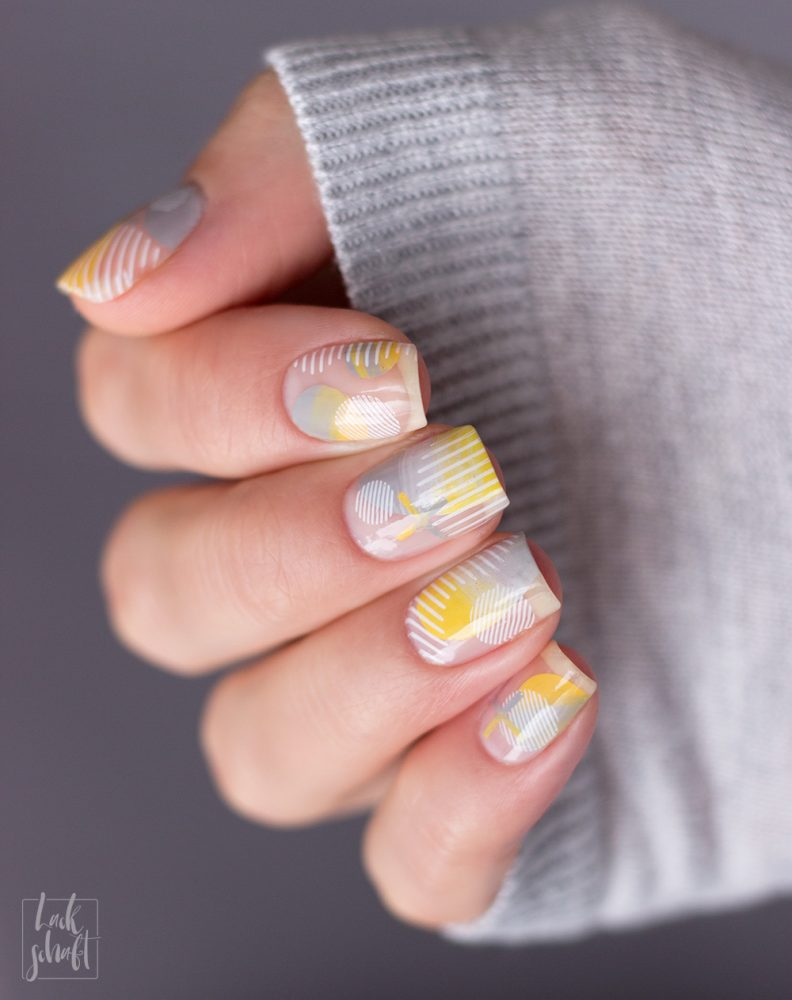Nailart-Moyou-London-Stamping-Coclor-Of-the-Year-2021-Pantone-Gelb-Grau--Frenchy-holy-shapes-minimal-6