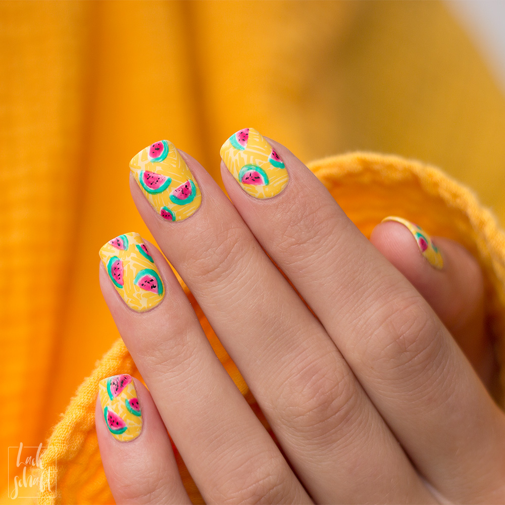 Frischlackiert-Challenge-Melon-Party-Nailart-Stamping-Freehand-Moyou-Pro-XL-28-Summer-Nails-5